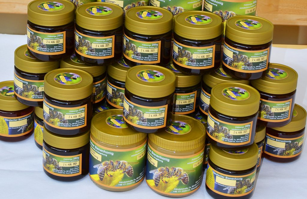 Honiggläser - Neutralglas mit individuellem Etikett
